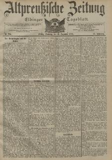 Altpreussische Zeitung, Nr. 294 Sonntag 16 Dezember 1900, 52. Jahrgang