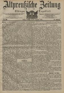 Altpreussische Zeitung, Nr. 295 Dienstag 18 Dezember 1900, 52. Jahrgang