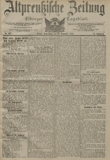 Altpreussische Zeitung, Nr. 297 Donnerstag 20 Dezember 1900, 52. Jahrgang