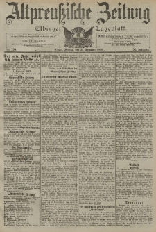 Altpreussische Zeitung, Nr. 298 Freitag 21 Dezember 1900, 52. Jahrgang