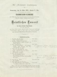 Pozycja nr 126 z kolekcji Henryka Nitschmanna : Christliches Conzert des Neuen Sängerbundes