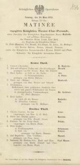 Pozycja nr 136 z kolekcji Henryka Nitschmanna : Matinée des engagirten Königlichen Theater Chor-Personals