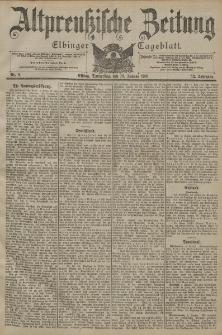 Altpreussische Zeitung, Nr. 8 Donnerstag 10 Januar 1901, 53. Jahrgang