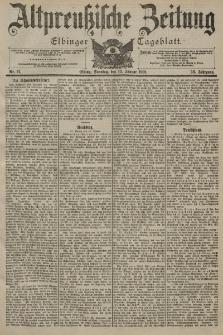 Altpreussische Zeitung, Nr. 11 Sonntag 13 Januar 1901, 53. Jahrgang