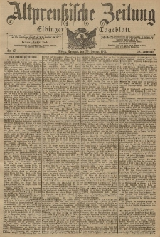 Altpreussische Zeitung, Nr. 17 Sonntag 20 Januar 1901, 53. Jahrgang