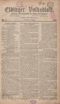 Elbinger Volksblatt (Zeitungs= und Anzeigeblatt für Elbing und Umgegend)