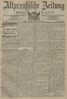 Altpreussische Zeitung, Nr. 22 Sonnabend 26 Januar 1901, 53. Jahrgang