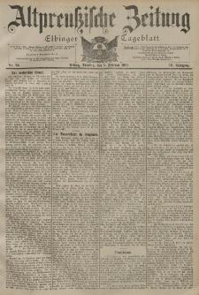 Altpreussische Zeitung, Nr. 30 Dienstag 5 Februar 1901, 53. Jahrgang