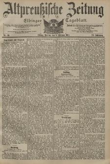 Altpreussische Zeitung, Nr. 33 Freitag 8 Februar 1901, 53. Jahrgang