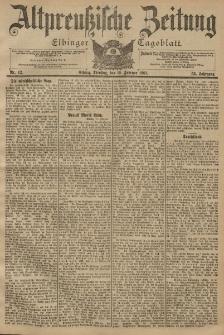 Altpreussische Zeitung, Nr. 42 Dienstag 19 Februar 1901, 53. Jahrgang