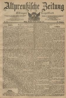 Altpreussische Zeitung, Nr. 43 Mittwoch 20 Februar 1901, 53. Jahrgang