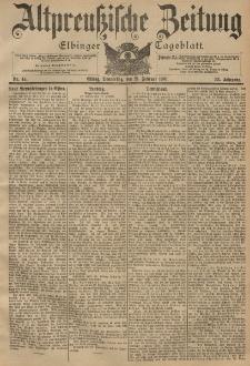 Altpreussische Zeitung, Nr. 44 Donnerstag 21 Februar 1901, 53. Jahrgang