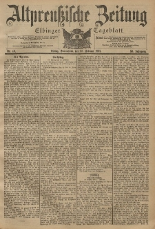 Altpreussische Zeitung, Nr. 46 Sonnabend 23 Februar 1901, 53. Jahrgang