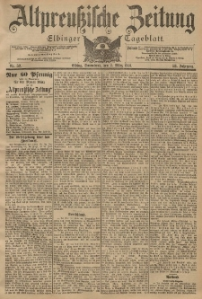 Altpreussische Zeitung, Nr. 52 Sonnabend 2 März 1901, 53. Jahrgang