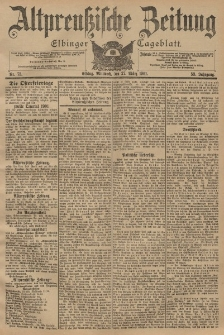 Altpreussische Zeitung, Nr. 73 Mittwoch 27 März 1901, 53. Jahrgang