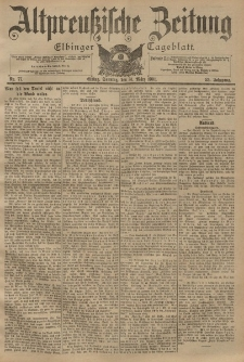 Altpreussische Zeitung, Nr. 77 Sonntag 31 März 1901, 53. Jahrgang