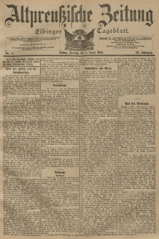 Altpreussische Zeitung, Nr. 81 Freitag 5 April 1901, 53. Jahrgang
