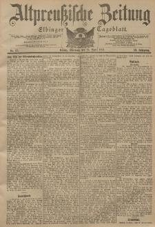 Altpreussische Zeitung, Nr. 95 Mittwoch 24 April 1901, 53. Jahrgang
