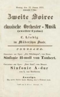 Pozycja nr 11 z kolekcji Henryka Nitschmanna : Zweite Soiree für classische Orchester-Musik (zweiter Cyclus)
