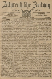 Altpreussische Zeitung, Nr. 105 Sonntag 5 Mai 1901, 53. Jahrgang
