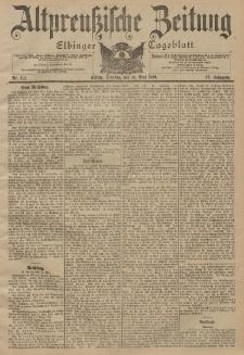 Altpreussische Zeitung, Nr. 112 Dienstag 14 Mai 1901, 53. Jahrgang