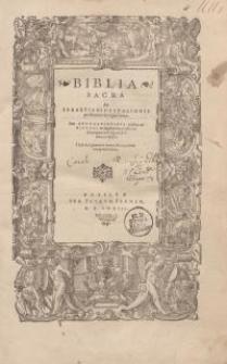 Biblia Sacra ex Sebastiani Castalionis postrema recognitione
