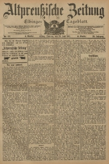 Altpreussische Zeitung, Nr. 175 Sonntag 28 Juli 1901, 53. Jahrgang