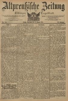 Altpreussische Zeitung, Nr. 189 Mittwoch 14 August 1901, 53. Jahrgang