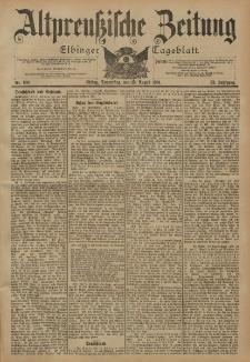 Altpreussische Zeitung, Nr. 190 Donnerstag 15 August 1901, 53. Jahrgang