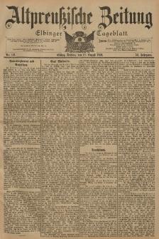 Altpreussische Zeitung, Nr. 191 Freitag 16 August 1901, 53. Jahrgang