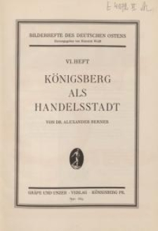 Königsberg als Handelsstadt