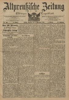 Altpreussische Zeitung, Nr. 205 Sonntag 1 September 1901, 53. Jahrgang