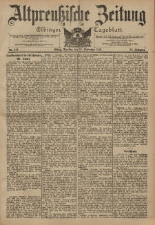Altpreussische Zeitung, Nr. 212 Dienstag 10 September 1901, 53. Jahrgang