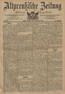 Altpreussische Zeitung, Nr. 213 Mittwoch 11 September 1901, 53. Jahrgang