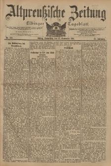 Altpreussische Zeitung, Nr. 214 Donnerstag 12 September 1901, 53. Jahrgang