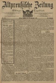 Altpreussische Zeitung, Nr. 219 Mittwoch 18 September 1901, 53. Jahrgang