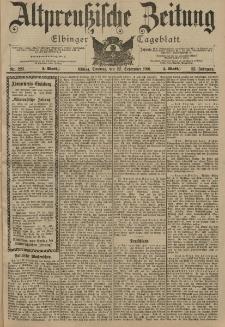 Altpreussische Zeitung, Nr. 223 Sonntag 22 September 1901, 53. Jahrgang