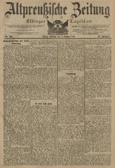 Altpreussische Zeitung, Nr. 230 Dienstag 1 Oktober 1901, 53. Jahrgang