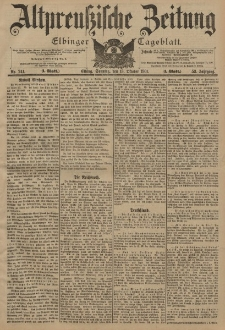 Altpreussische Zeitung, Nr. 241 Sonntag 13 Oktober 1901, 53. Jahrgang