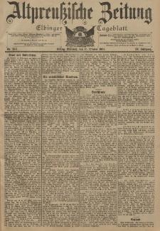 Altpreussische Zeitung, Nr. 243 Mittwoch 16 Oktober 1901, 53. Jahrgang