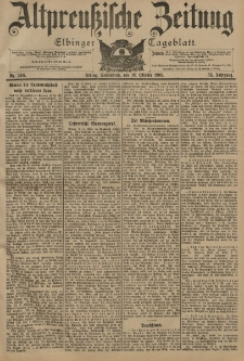 Altpreussische Zeitung, Nr. 246 Sonnabend 19 Oktober 1901, 53. Jahrgang