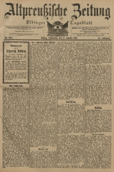 Altpreussische Zeitung, Nr. 256 Donnerstag 31 Oktober 1901, 53. Jahrgang
