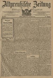Altpreussische Zeitung, Nr. 257 Freitag 1 November 1901, 53. Jahrgang