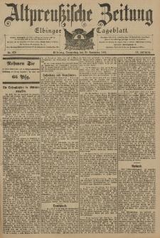 Altpreussische Zeitung, Nr. 279 Donnerstag 28 November 1901, 53. Jahrgang