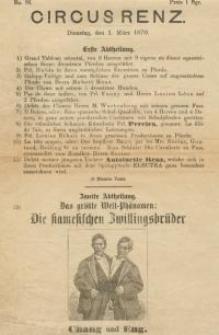 Pozycja nr 86 z kolekcji Henryka Nitschmanna : Circusrenz, 1.03.1870 r.