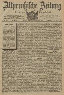 Altpreussische Zeitung, Nr. 300 Sonntag 22 Dezember 1901, 53. Jahrgang