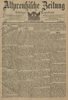 Altpreussische Zeitung, Nr. 2 Freitag 3 Januar 1902, 54. Jahrgang