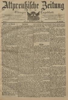 Altpreussische Zeitung, Nr. 5 Dienstag 7 Januar 1902, 54. Jahrgang