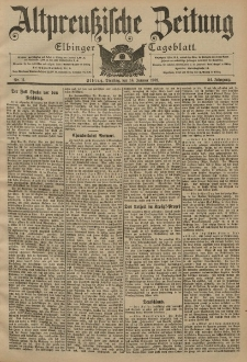 Altpreussische Zeitung, Nr. 11 Dienstag 14 Januar 1902, 54. Jahrgang