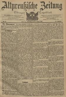 Altpreussische Zeitung, Nr. 25 Donnerstag 30 Januar 1902, 54. Jahrgang